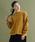 merlot(メルロー)の「袖フリルニットプルオーバー2122(ニット/セーター)」|イエロー