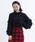 merlot(メルロー)の「袖フリルニットプルオーバー2122(ニット/セーター)」|ブラック