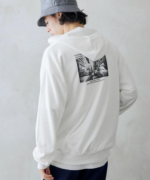 裏毛 スウェット ロゴ メンズ パーカー-2021SPRING-