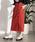 WEGO(ウィゴー)の「WEGO/リネンブレンドボタンナロースカート(スカート)」|ダークオレンジ