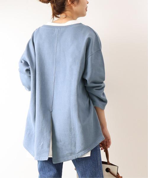 Spick & Span(スピックアンドスパン)の「裏毛BACKスリット2◆(Tシャツ/カットソー)」|ブルー