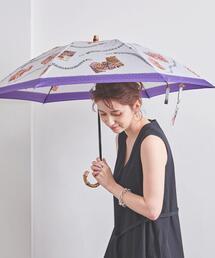 <manipuri(マニプリ)>プリント 折りたたみ 晴雨兼用傘