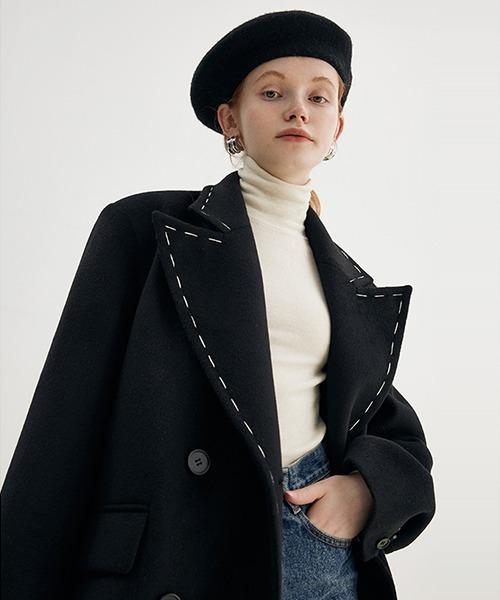 【Fano Studios】【2021AW】Stitch collar chester coat FD21W026
