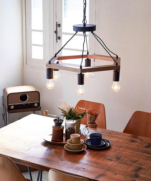 ブリッド 木製 ワークライト 6灯 ペンダントライト 照明 / BRID WOOD WORK LIGHT by 6BULB (電球あり)