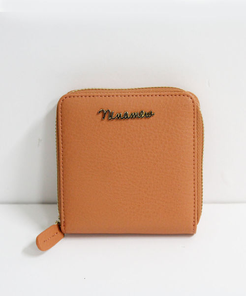 nina mew(ニーナミュウ)の「NInamewロゴコンパクトウォレット(財布)」|オレンジ