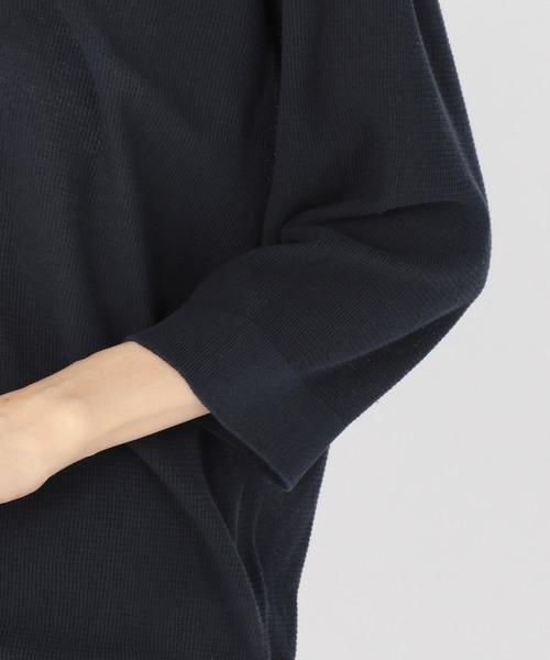 【unfil】スキッパー プルオーバーニット WOMEN