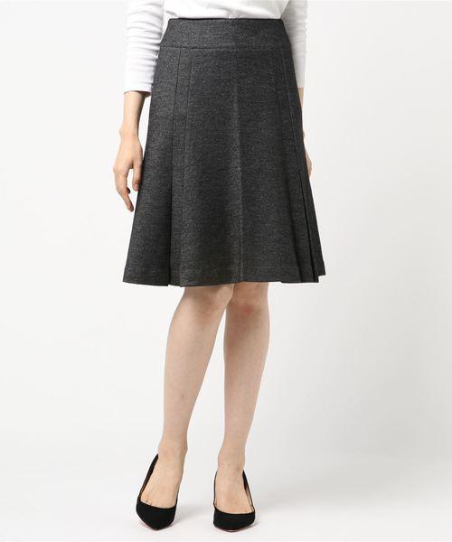 低価格で大人気の 《セットアップスーツ対応》バーズアイソフトフレアースカート, 好評 dc462d12