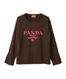 PANDA MANIA Tシャツブラウン