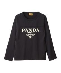PANDA MANIA Tシャツブラック