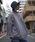 rovtski(ロフトスキー)の「rovtski 【ビッグシルエット】ミニ裏毛パウダーブリーチBIGトレーナーF(スウェット)」 ブルー