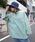 rovtski(ロフトスキー)の「rovtski 【ビッグシルエット】ミニ裏毛パウダーブリーチBIGトレーナーF(スウェット)」 グリーン
