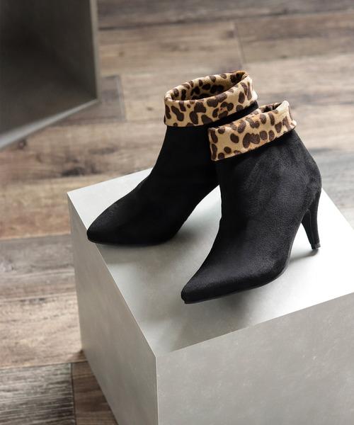 SESTO(セスト)の「フェミニンなポインテッドトゥ7cmヒールショートブーツ(ブーツ)」|ブラック系その他