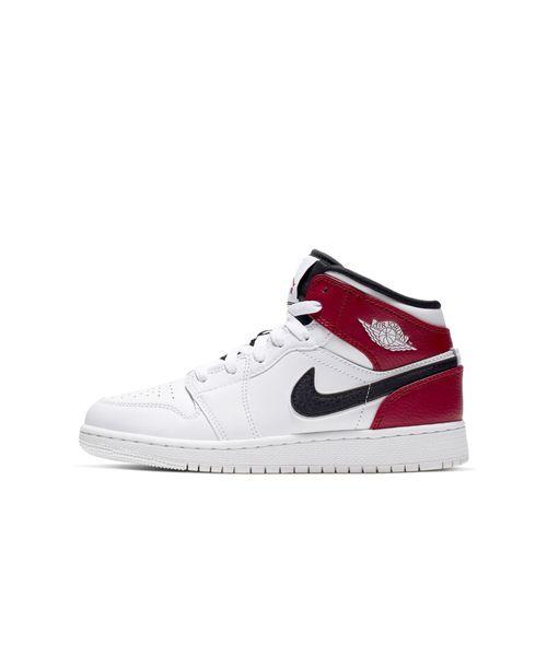 sports shoes 97642 c7329 NIKE(ナイキ)のエア ジョーダン 1 MID ウィメンズ ジュニアシューズ(スニーカー)