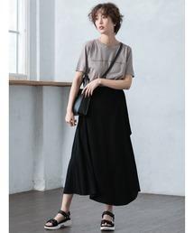 fifth(フィフス)の【星玲奈プロデュース】ナチュラルリネンフレアラップスカート(スカート)