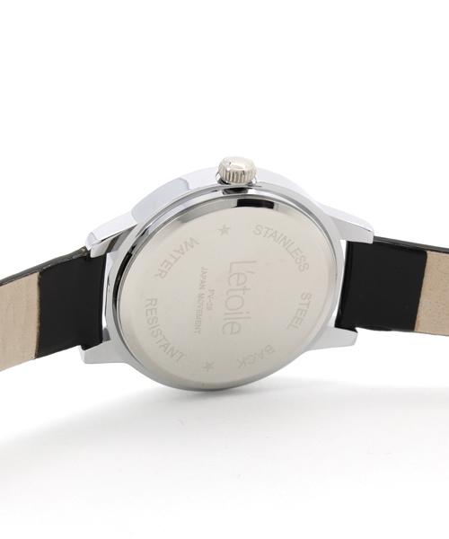 【L'etoile】クローバー&ストーンレディースウォッチ 腕時計