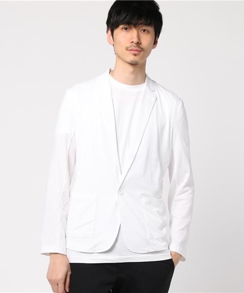 ストレッチ天竺薄手テーラードジャケット