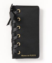 b35e70ee5616 Maison de FLEUR(メゾンドフルール)の「ブランドロゴレースアップアイフォンX/