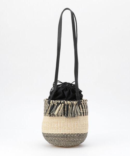 定番 ミックス編みかごショルダーバッグ, みんなの花屋さん ほのか 6f52f007