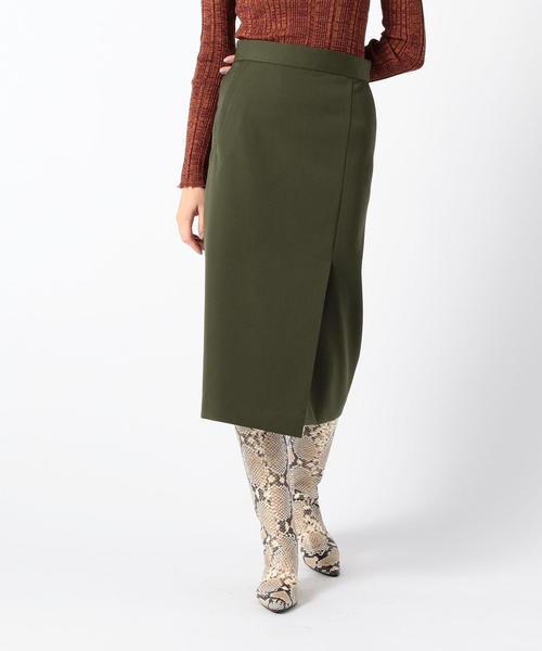 最新な ライトダブルクロス サイドスリットスカート(スカート) TOMORROWLAND(トゥモローランド)のファッション通販, LeicesterSquare:d473a8d5 --- fahrservice-fischer.de