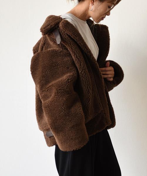 ボアショートB3ジャケットコート