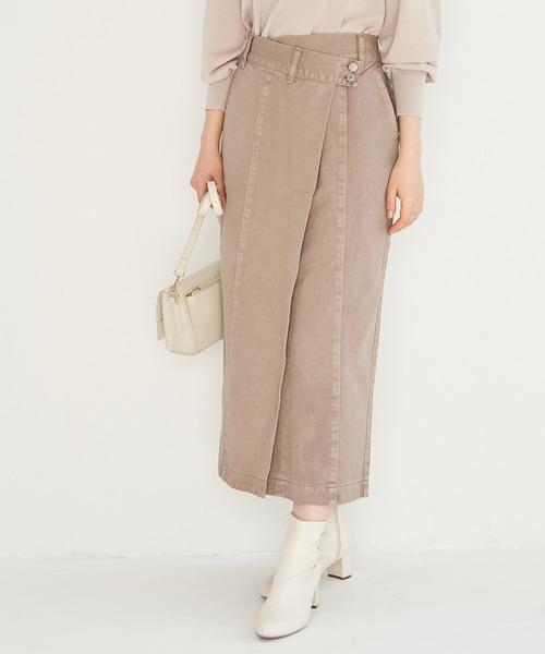 【emur】デニムデザインロングスカート