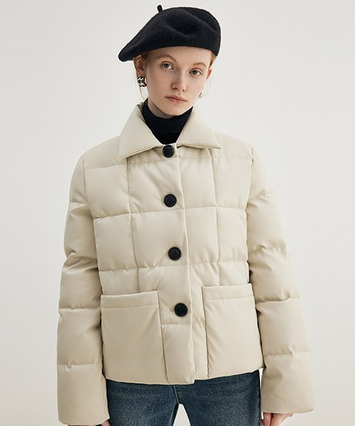 【Fano Studios】【2021AW】Square quilted lapel batting jacket FD21M006