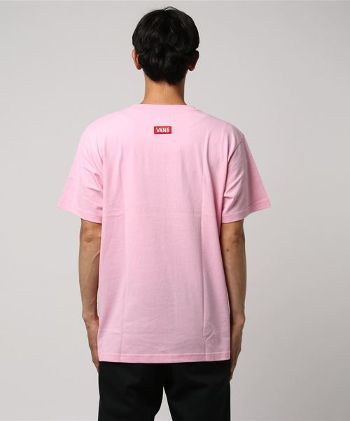 VANS ヴァンズ Checher 3D Embroidery S/S Tee CD18SS-MT12 PINK