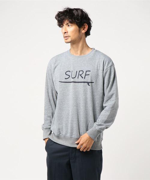 SURFロゴ裏起毛クルートレーナー