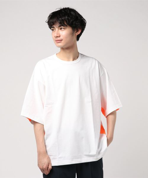 ROTOL / SHORT SLEEVE SWITCH TEE -NEONー