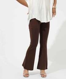 AZUL BY MOUSSY(アズールバイマウジー)のワイドリブフレアパンツ WIDE RIB FLARE PANTS(パンツ)