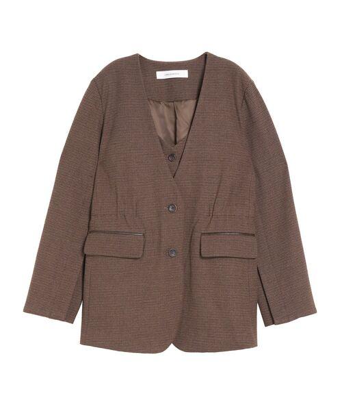 超可爱 【セール】ベストインノーカラーチェックジャケット(テーラードジャケット)|LAGUNAMOON(ラグナムーン)のファッション通販, 風の詩ダヤンと縫ぐるみの専門店:659d2827 --- blog.buypower.ng