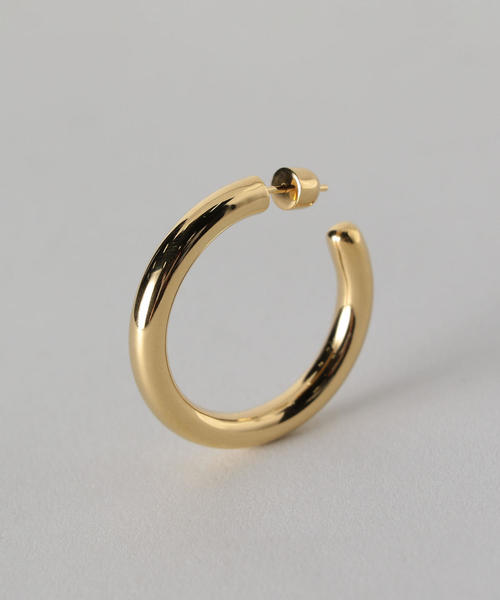 <MARIA BLACK>RUBY 35 HOOP EARRING GOLD PLATED/ピアス