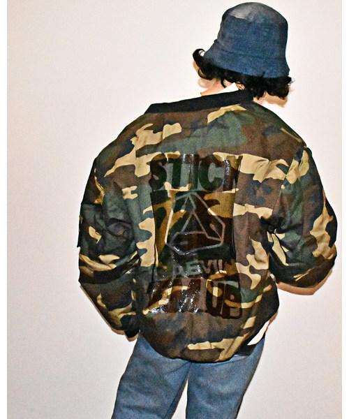 【 FOSTEX GARMENTS / フォステックスガーメンツ 】by AEVIL LABELS PRINT BOMBER JACKET