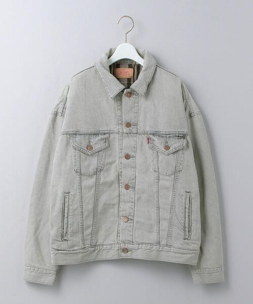 <LEVI'S>VINTAGE CLOTHING FLANNEL TRUCKER LEAVE ME ALONE/ジャケット Ψ