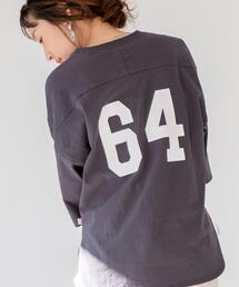 【WEB限定復刻】USAコットンナンバーバックプリントTシャツ#