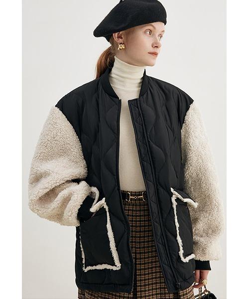 【Fano Studios】【2021AW】Boa sleeve quilting jacket FD21M017