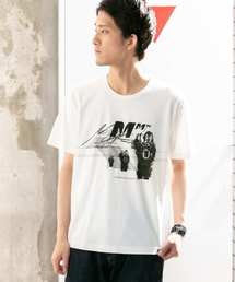 WORK NOT WORK URBAN RESEARCH(ワークノットワークアーバンリサーチ)のMASK PRINT T-SHIRTS-B(Tシャツ/カットソー)