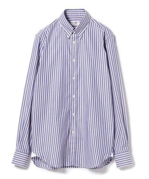 ◎GUY ROVER / サンドストライプ タブカラーシャツ