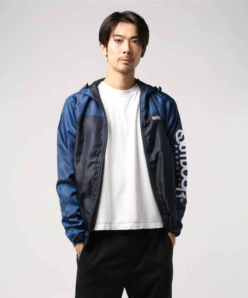 OUTDOOR PRODUCTS裏メッシュフード付ブルゾン