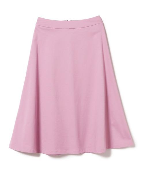 BEAMS LIGHTS(ビームスライツ)の「BEAMS LIGHTS / コットン フレアスカート(スカート)」|ピンク