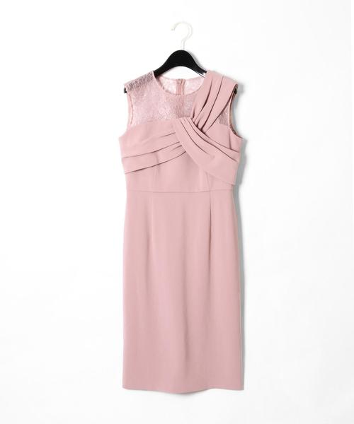 Diagram(ダイアグラム)の「切替ドレープドレス(ドレス)」|ピンク