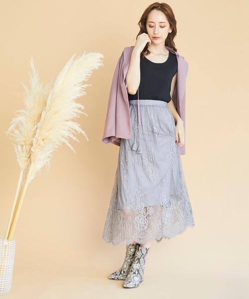MISCH MASCH MAIRY(ミッシュマッシュメイリー)の「レースプリーツスカート/MISCH MASCH MAIRY(スカート)」|ピンク