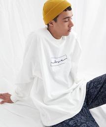 ビッグシルエット コットン天竺イラストデザインL/Sカットソー(EMMA CLOTHES - love/yourself by moving)ホワイト系その他