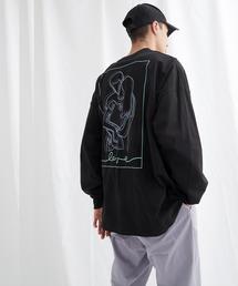 ビッグシルエット コットン天竺イラストデザインL/Sカットソー(EMMA CLOTHES - love/yourself by moving)ブラック系その他
