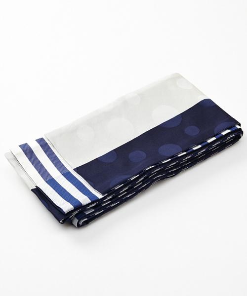 ふりふ(フリフ)の「半巾帯「ピエロ」(和装小物)」|ネイビー