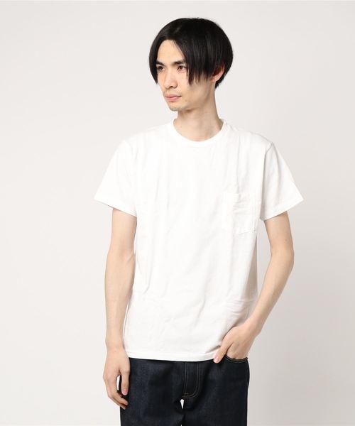Velva Sheen ベルバシーン 2パック ポケット付 クルーネック Tシャツ