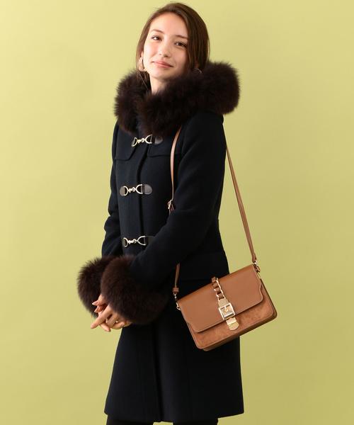 *otonaMUSE게재*【GUILD PRIME】블루FOX퍼(fur) 비트 코트