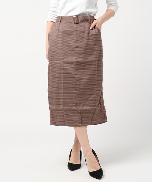 アソートチェックナロースカート