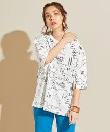 【別注】<idilliaco>ハンドライティングロゴTシャツ