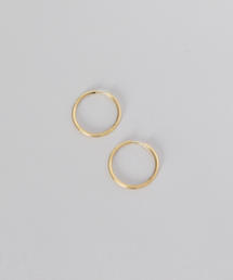 <MARIA BLACK>SUNSET HOOP 25 EARRINGS YELLOW GOLD PLATED/ピアス.